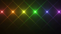 Rainbow Colored Flickering Lights in Cross Shape, Looping Motion Background Stock Footage