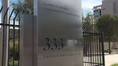 Sign for Lloyd D. George U.S. Courthouse in Las Vegas Stock Footage