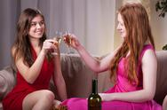 Stock Photo of girls celebrating an occasion