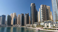 Time Lapse Dubai Marina Skyscrapers building apartments real estate Property Stock Footage