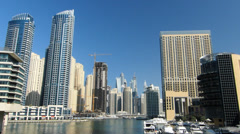 Time Lapse Dubai Marina Skyscrapers building apartments real estate Property Stock Footage