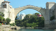 Stock Video Footage of Mostar bridge