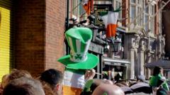 Birmingham's St Patrick's Day Parade 2014 - dragon Stock Footage