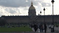 Paris - France - L'Hôtel national des Invalides - HD Stock Footage