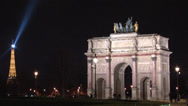 Stock Video Footage of Paris - Arc de Triomphe du Carrousel.