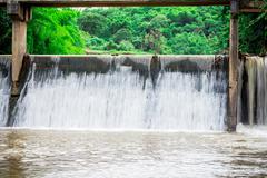 river locks in thailand - stock photo