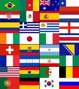 World Cup 2014 flags Stock Illustration