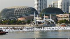 Singapore Esplanade-Theatres on the Bay Stock Footage