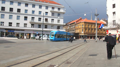 Zagreb tramway Stock Footage