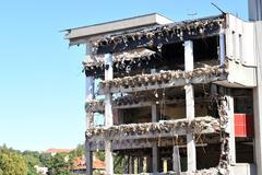 Stock Photo of demolished building