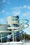 aquapark - stock photo