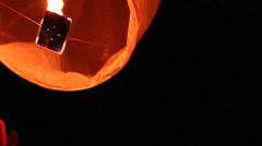 Flying lantern Stock Footage