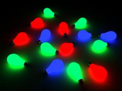 many color glowing  bulbs - stock photo