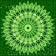 Stock Illustration of circle floral ornament.