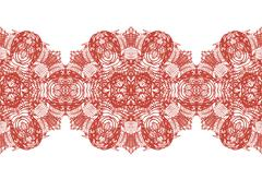 linear floral ornament, seamless pattern. - stock illustration