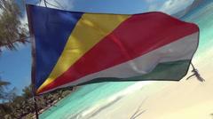 Flagge Seychellen Stock Footage