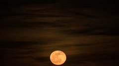Stock Video Footage of Rising full moon 01