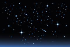 star night sky - stock illustration - stock illustration