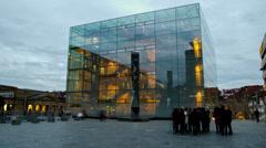 Time lapse Kunstmuseum Stuttgart 01 Stock Footage