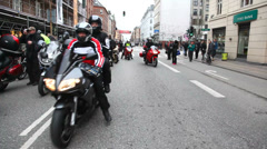 Motorcycle riders gathering  Stock Footage