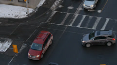 Traffic Jam Intersection Rush Hour - stock footage