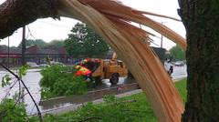 Severe thunderstorm damage Stock Footage