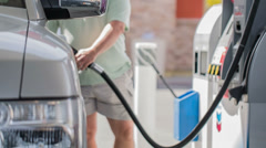 Pumping Gas Stock Footage