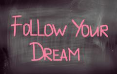 Stock Photo of follow your dream concept