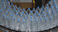 Stock Video Footage of water bottle conveyor industry