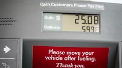 Gas Price Meter Stock Footage