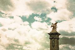 vintage pont alexandre iii - stock photo