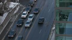 Urban Car City Driving Winter Rush Hour - stock footage
