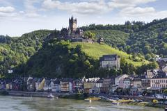 Germany, Rhineland-Palatinate, Cochem, imperial Castle in Mosel valley Stock Photos