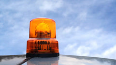 911 Flashing beacon. Orange flashing and rotating light Stock Footage