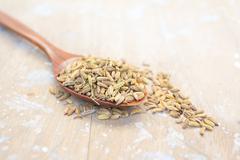 Caraway seeds background Stock Photos