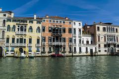 Italy, Venice, Houses at Canale Grande Stock Photos