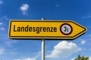 Stock Photo of Germany, Bavaria, Burghausen, Border sign