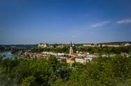 Stock Photo of Germany, Bavaria, Burghausen, Cityscape with castle and church