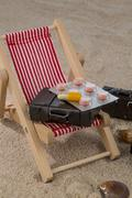 Symbolical picture of first-aid kit for long distance travels Stock Photos