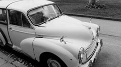 B & W Classic Morris Minor 1000 2# Stock Footage