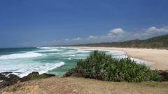 Australian Beach Landscape Stock Footage