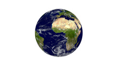 Seamless rotating earth, isolated on white background (FULL HD) Stock Footage