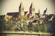 Stock Photo of Germany, Bavaria, Regensburg, View of old town