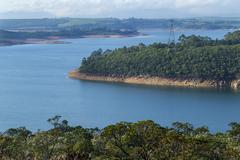View of Furnas Hydroelectric Lake,  350 km extension - stock photo