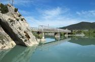 Stock Photo of Spain, Aragon, Yesa Dam, Aragon river