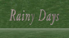 Rainy days 3D title animation for videos Stock Footage