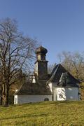 Germany, Bavaria, Kochel am See, Protestant Church Stock Photos