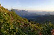 Stock Photo of Germany, Upper Bavaria, Berchtesgadener Land, Hoher Goell, Untersberg, sunrise