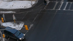 Winter Cars Intersection Driving - stock footage