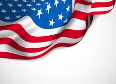 U.s. flag on a white background Stock Illustration